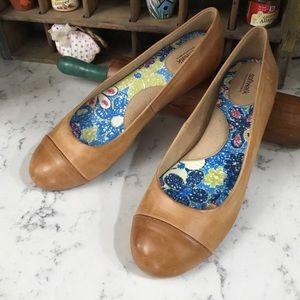 Softwalk Napa Ballet Flat Comfort Shoe Tan Luggage